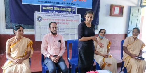 TAB distribution at St Raymond's High School, Vamanjoor, Mangalore