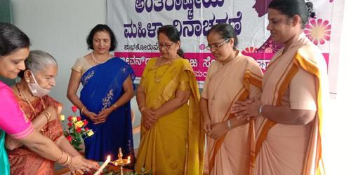 The International Women's Day was celebrated at Jeevandhara Social Service Centrre, Kulshekar